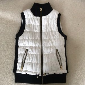 Calvin Klein White and Black Puffer Vest